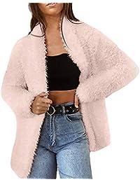 Yvelands Rebeca Outwear, Chaqueta de Manga Larga Color sólido de la Chaqueta de Manga Larga del Color sólido de la Moda Mujeres