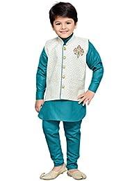 AJ DEZINES Kid's Cotton Kurta Pyjama Set