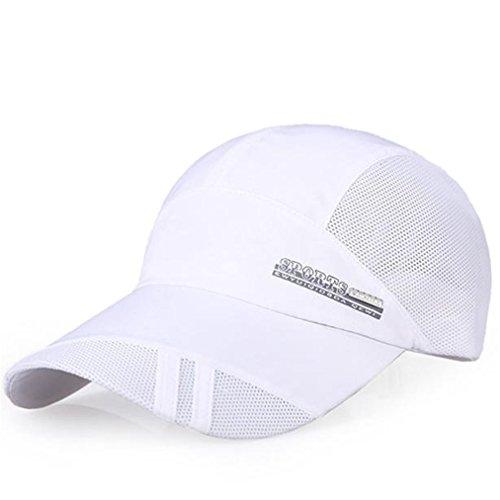 JYJM Erwachsener Mütze Schnell-trockener zusammenklappbarer Sun-Hut im Freien Sonnenschutz-Baseballmütze ()