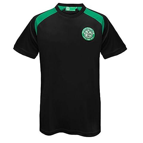 Celtic FC officiel - T-shirt pour entrainement de football - polyester - homme - Noir - XL