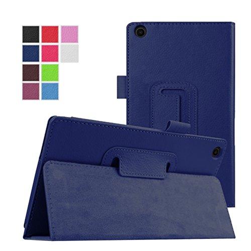 Hülle für Asus ZenPad C 7.0, Z170C, Z170CG, Z170MG, aus Leder, mit Standfunktion (dunkelblau)