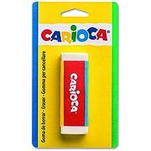 Carioca Bi-Color - Blister con goma rubout y funda