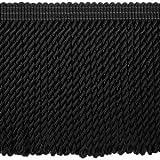 Möbelfranse 12cm schwer - gedreht - Meterware schwarz