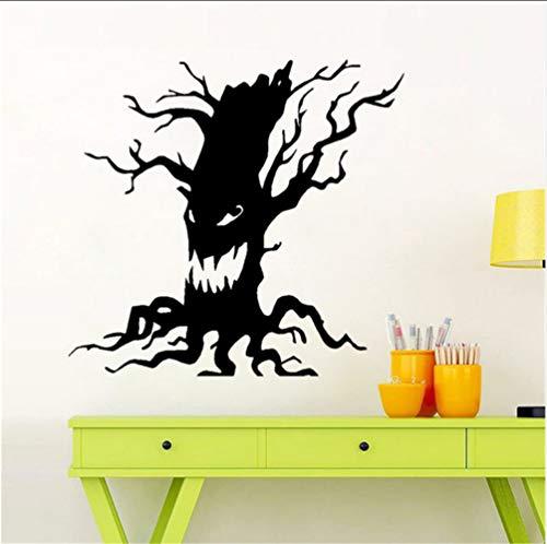 Chellonm Spuk Baum Halloween Scary Vinyl Kunst Geist Lustiges Gesicht Wohnkultur Wandaufkleber 56 * 60 Cm