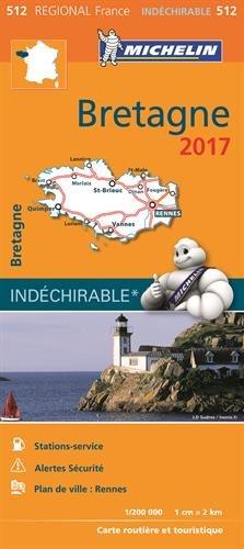 Carte Bretagne Michelin 2017