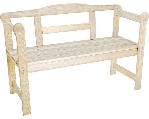 Gartenbank Friesenbank 2-Sitzer Holz 45 x 118 x 78 cm, natur