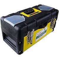 Cassetta degli attrezzi Caja de herramientas de hardware para el hogar Caja de herramientas de reparación de hierro de plástico multifunción (Color : 17'')