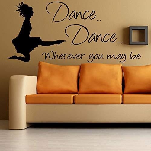 woyaofal Tanz Silhouette Gymnastik Tänzerin, wo Immer Sie zitieren können Wandaufkleber Wohnkultur Wohnzimmer Schlafzimmer Abnehmbare Abziehbilder M 92x42 cm