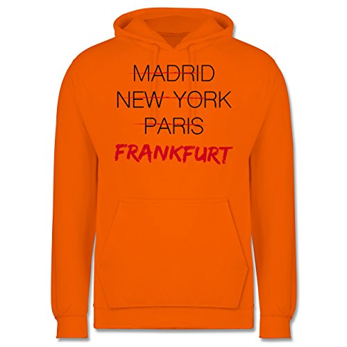 Städte - Weltstadt Frankfurt - Männer Premium Kapuzenpullover / Hoodie Orange