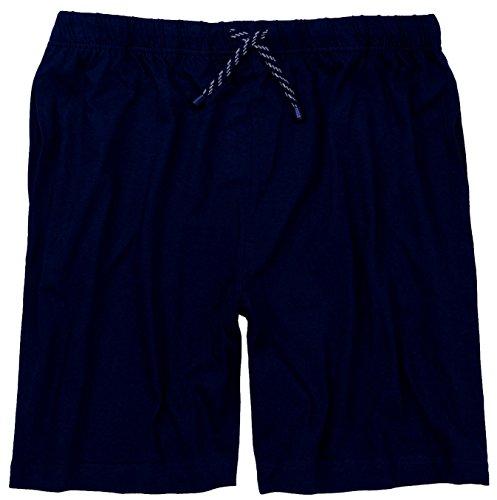 Adamo Schlafanzughose kurz XXL/56 bis 10XL/88 schwarz oder blau Blau