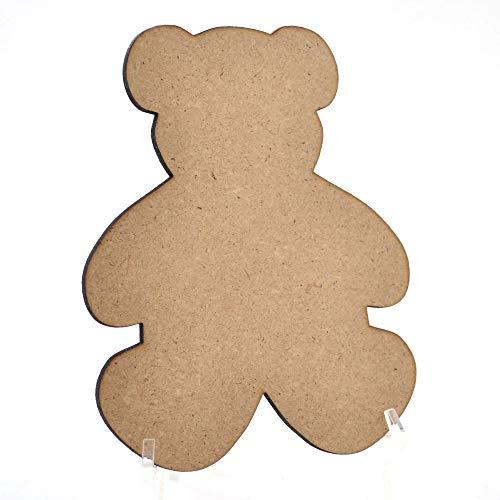 10x Holz MDF Teddy Bär Formen, Uni Holz Craft 50mm (5cm) (Teddy Bär Form)
