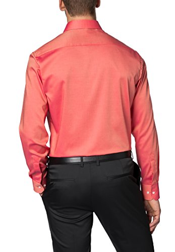 Eterna Long Sleeve Shirt Modern Fit Pinpoint Uni Arancione