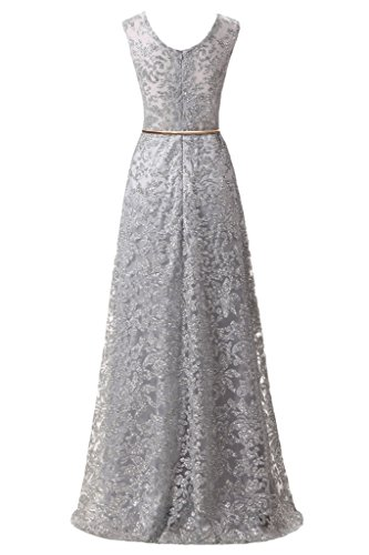 ivyd ressing Femme A ligne populaire col en V robe robe ceinture Paillette Party Prom Lave-vaisselle robe robe du soir Silber