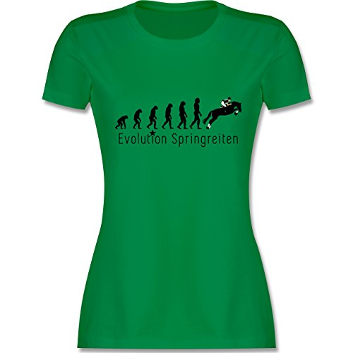 Evolution - Springreiten Evolution - XXL - Grün - L191 - Damen T-Shirt Rundhals