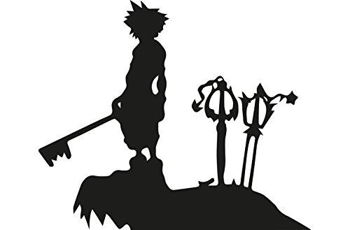 Kingdom Hearts ca 17x14cm Aufkleber Sticker Decal für alle glatten Oberflächen. Auto, Wände, Fenster, Tür uvm. (14 Wand-aufkleber)