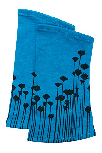 kailash Pulswärmer Poppies Armstulpen Fair Trade (Aqua)