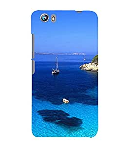 PrintVisa Beautiful Sea 3D Hard Polycarbonate Designer Back Case Cover for Micromax Canvas Fire 4 A107