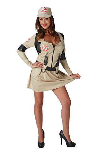 Ghostbusters Ladies Fancy Kleid Halloween 1980erKostüm für (Halloween Kostüm Ghostbusters)