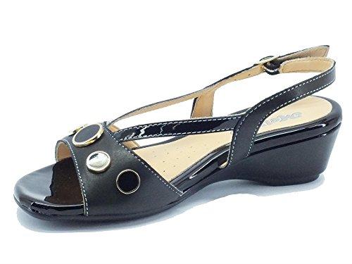 MELLUSO  08742 Nero, Damen Sandalen Schwarz Nero Nero