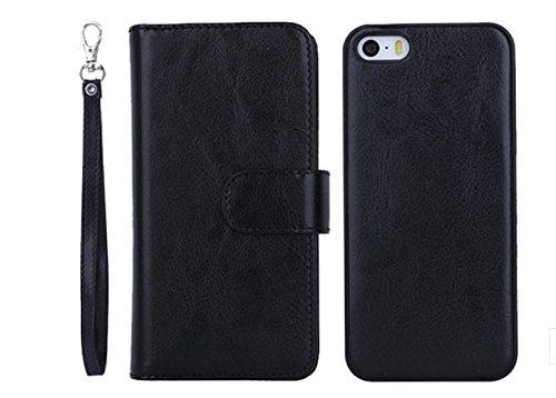 Wooden Case Cover,Vandot Unico Reale Handmade Legno [Naturale WoodBack Lavorato Custodia] Per iPhone 6 Plus / 6S Plus 5.5 Pollici - [Cranio] Nero