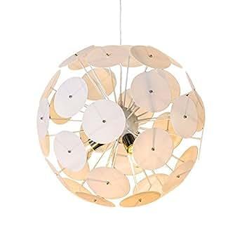 Qazqa design moderne lustre miranda 50 blanc plastique for Globe luminaire interieur