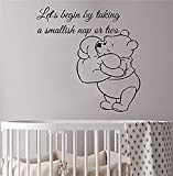 wandaufkleber babyzimmer Winnie The Pooh Quote Wall Decal. Quote Nursery Decor. Baby Room Wall Stickers. Winnie The Pooh Nursery Wall Art Vinyl