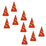 FLAMEER Los 10 Dreieckige PVC Sicherheitswrack Wrack Höhle Tauchleine Seilpfeil Marker Langlebig &...