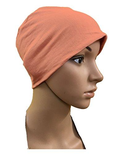 PEACH CHEMO BEANIES CANCER CAPS WOMEN SUMMER CHEMO CAPS SLEEP TURBAN FOR...