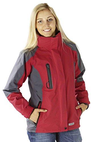 3637 Planam Shape Damen Jacke rot/ grau (S (36/38), rot/grau)