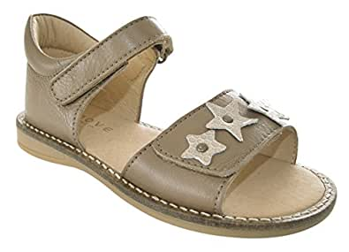MOVE  Girls velcro sandal, Sandales pour fille - Vert - Grün (472/Khaki) 33 EU
