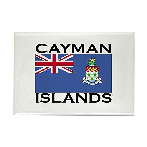 CafePress-Cayman Islands Flagge-Rechteck Magnet, 5,1x 7,6cm Kühlschrank Magnet (Stadt Von Grand Island)