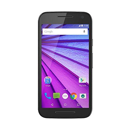 """Motorola Moto G (3a Generación) - Smartphone libre Android (4G, 5"""", 13 MP, 8 GB, 1 GB de RAM), color negro"""