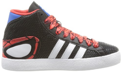 adidas Basket Profi Spider K Black Red Youth Trainers Nero (Black/Bluebird/Hi-Res Red)