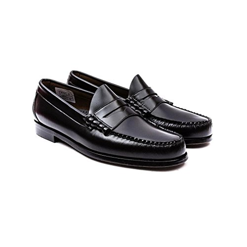 G. H. Bass Mens Weejuns Larson Moc Penny Leather Shoes Black
