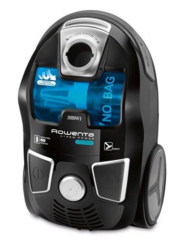 Rowenta RO6235EA Aspirador X-Trem Power Cyclonic Sin Bolsa, 750 W, 82 Decibeles, Acero Inoxidable, plástico, Negro, Azul