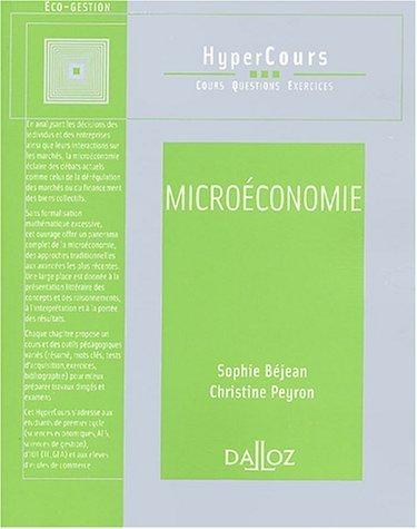 Microéconomie de Peyron. Christine (2003) Broché