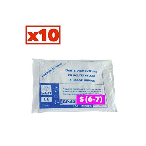 Guanti in polietilene–Cartone Di 10scatole di 100–GP _ 10