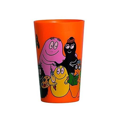 Guizmax bicchiere plastica i barbapapà bambino vetro