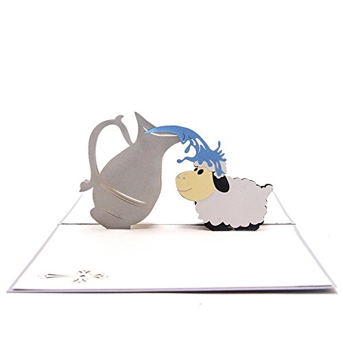 UNIQUEplus Kreative 3D-Pop-Up-Grußkarten für Babypartys, Einladungen, Geburtstage, Neugeborene, Danksagungen, Beste Wünsche, Religion, Taufe, Zeromonien