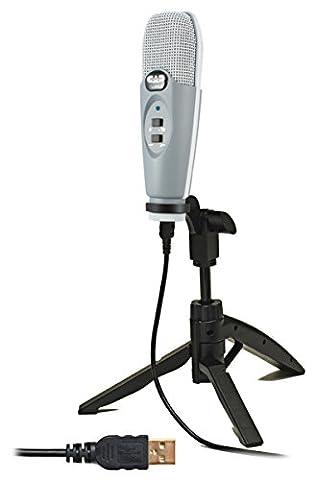 CAD Audio u37se-ca groß USB Membran Niere Kondensator Mikrofon mit Stativ Ständer–Apple Rot grau