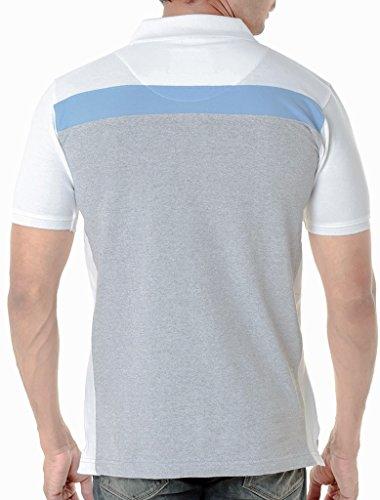 WEXFORD Men's Cotton Polo T-Shirt Grey_Medium