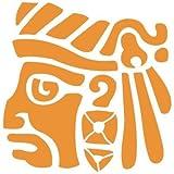 TODO-STENCIL Aerografia Tattoo Mayas 003 Dios. Medidas aproximadas: Medida exterior 10 x 10 cm Medida del diseño:4 x 4 cm