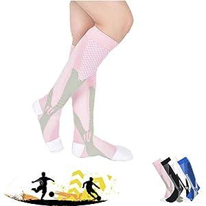 TMDFight Männer und Frauen Marathon Reiten Outdoor Sports Kompressionssocken Compression Football Schnell trocknende Socken