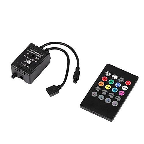 GLOGLOW Tragbare LED Musik Controller 20 Tasten IR Remote Sound Sensor Controller für RGB Flexible Farbe Streifen Lichter mit Sound Aktivierung Funktion -