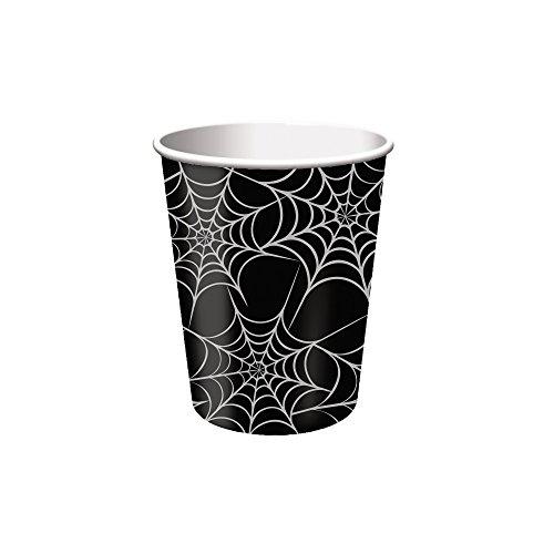 Creative Converting Kaffeetassen für heiße und kalte Tassen, 8 Stück 9 oz Metallic Webs