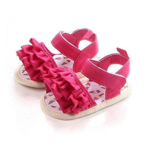 BZLine® Baby Krippe Schuhe Neugeborenen Blume Soft Sohle Anti-Slip Baby Sneakers Sandalen Hot Pink