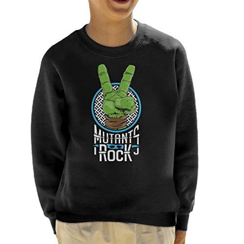 Teenage Mutant Ninja Turtles Mutants Rock Hand Leonardo Kid's Sweatshirt