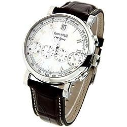 Orologio Eberhard CHRONO 4 31043CP Automatico Acciaio Quandrante Bianco Cinturino Pelle