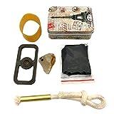 Starter Kit de Silex, kit de démarrage de feu de Silex, Outil Original de Mise à feu de Survie Original extérieur pour la Formation de l'activité de feu, kit de Survie de désert pour Camping