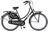 SALUTONITrendiges Jugend 28 Zoll Omafahrrad Badges Damen Holland Fahrrad 50 cm Shimano Nexus 3 Gang 95% zusammengebaut